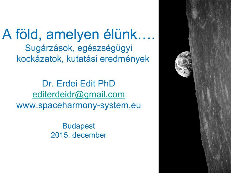 Dr. Erdei Edit PhD – SpaceHarmony-System / Bara Hotel 2015.12.29.